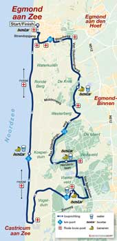 Egmond Halbmarathon-Map