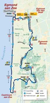 Egmond Halbmarathon Strecke