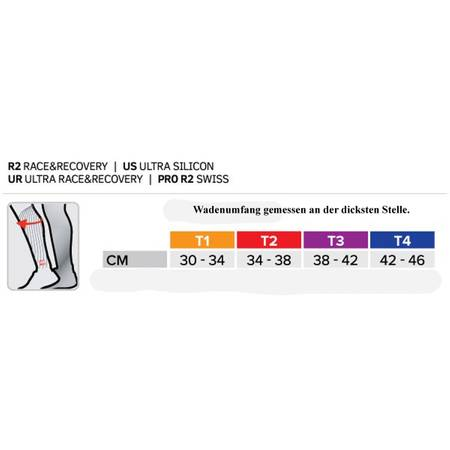 Compressport Calf R2 V2 Fluo (Race & Recovery) yellow/blue