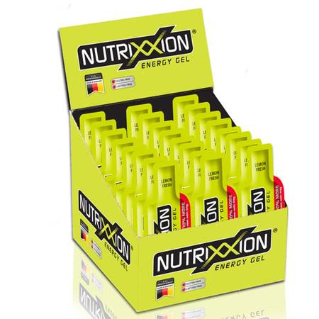 Nutrixxion Energy Gel mit 24 x 44g. Lemon Fresh [40mg Koffein]
